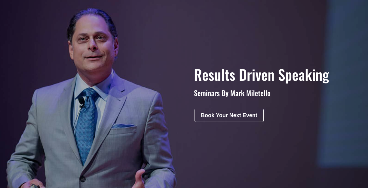 Mark Miletello Speaking - Insurance Agent Trainers
